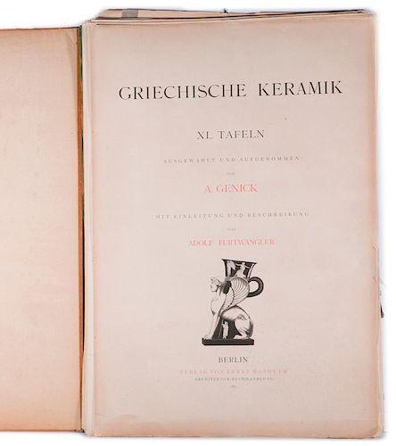 Large folio of Greek vases.