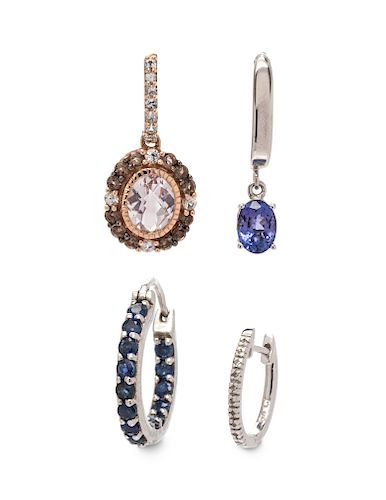 A Collection of Single Earrings,