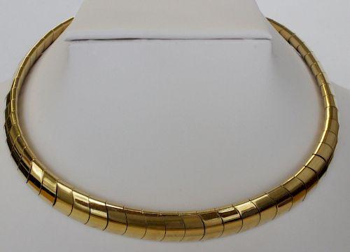 Scale Link Italian 18K Yellow Gold Choker