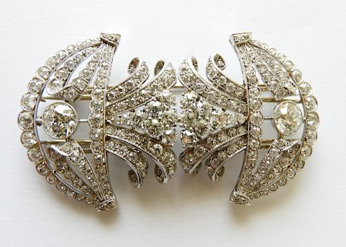 Cartier - 12.9 TCW Diamond Brooch/Clips