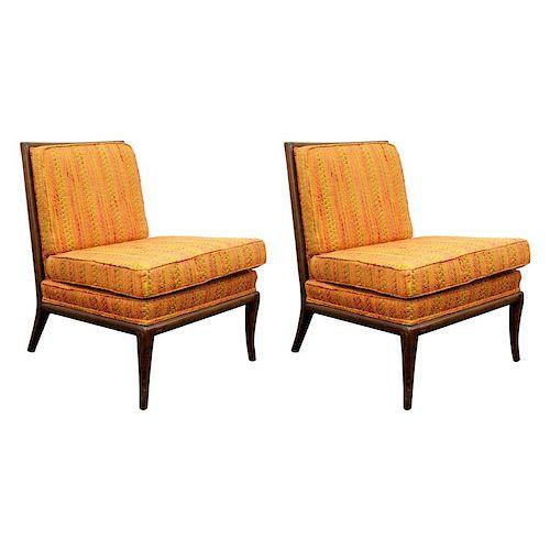 Robsjohn-Gibbings for Widdicomb Lounge Chairs, Pr