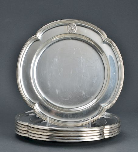 Hawksworth Eyre & Co. Silver Place Plates, 6