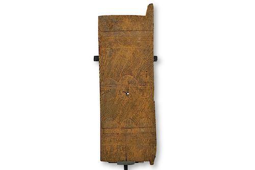 """Authentic Igbo Iroko Wood Door 45"""""""