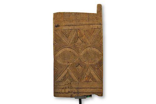 """Authentic Igbo Iroko Wood Door 40"""""""