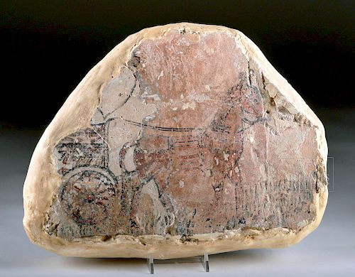 Extremely Rare Mesopotamian Polychrome Relief