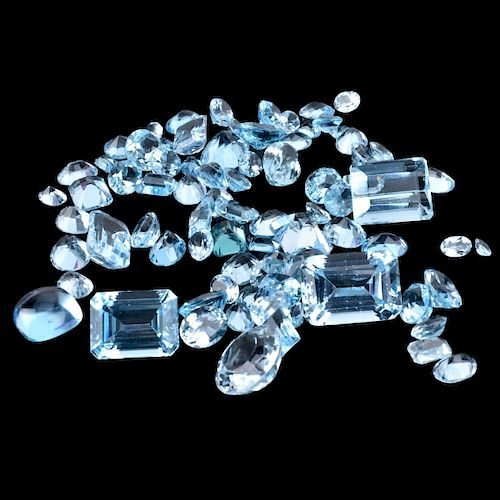 Collection of Loose London Blue Topaz