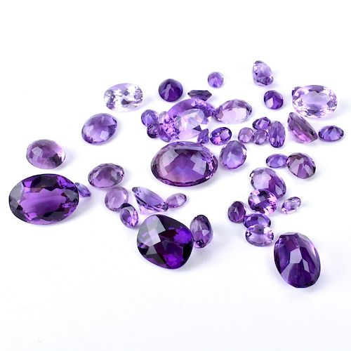 Collection of Loose Amethyst