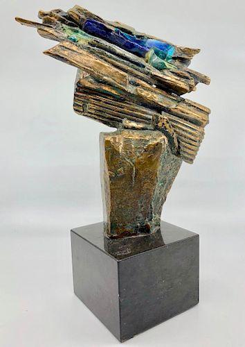 Edris Eckardt Bronze and Glass Sculpture
