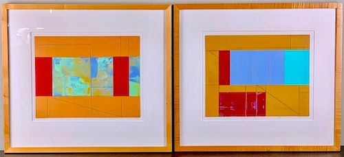 Liliane Luneau ( 20thc.) Two Works, No. 239 and No.249,