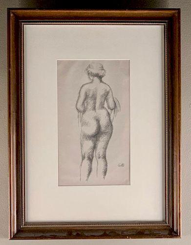 Aristide Maillol (French 1861-1944) Femme Nu De Dos