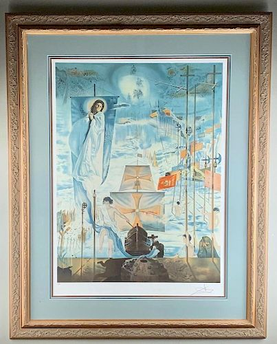 Salvador Dali (Spanish 1904-1989) Discovery of America,
