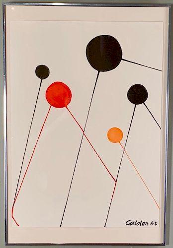 Alexander Calder (American 1898-1976) Bubbles, 1968.