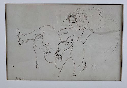 Jules Pascin (French 1885-1930) Erotic Study,