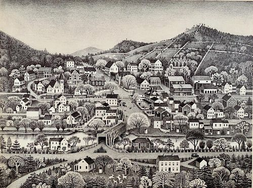 Ruth Gannett(American 1896-1979) Cream Hill, 1949,