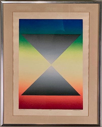 S.A.Davis(American 20thc.) Formation, silkscreen on