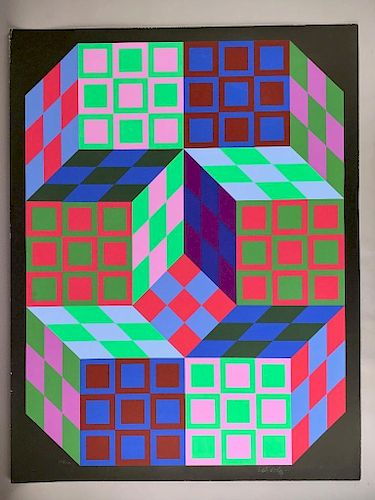 Victor Vasarely (French/ 1906-1997)