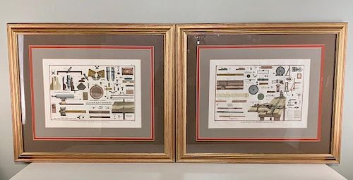 Two Framed Hand Colored Engravings by Scattaglia