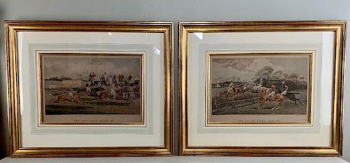 Two Engraved Horse Racing Prints After Walsh