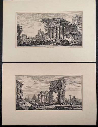 Two Giovanni Battista Piranesi (1720 - 1778) Etchings
