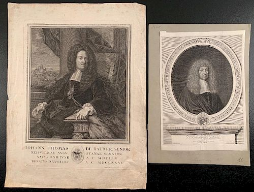 Two 17th Century Engravings of Senators