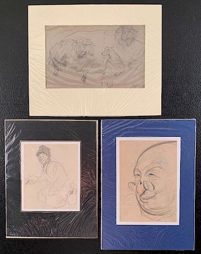 Three Early 20th Century Original Artists Sketches