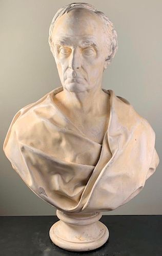 P.P. Caproni and Brothers Monumental Plaster Bust