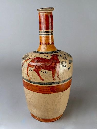 Mexican Pottery Vase, Hand Painted