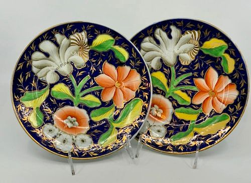 Pair of Early Coalport Ceramic Plates, c.1800