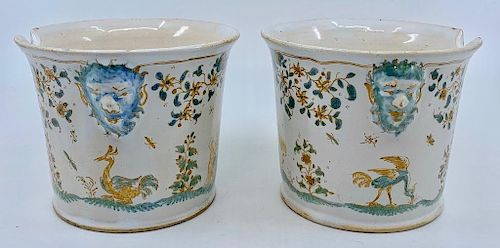 Pair of Moustiers Faience Rinsers, 1730-50