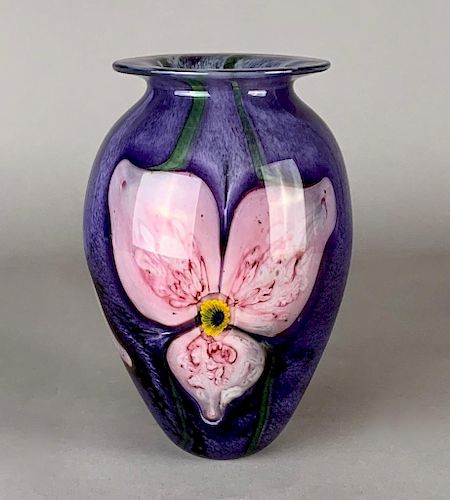 Robert Eicholt Art Glass Vase