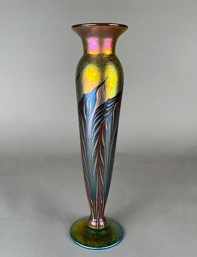 Lundberg Studios Art Glass Vase, 2001
