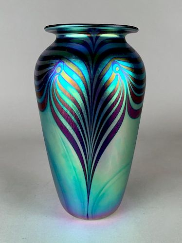 Robert Eicholt Art Glass Vase, 1999