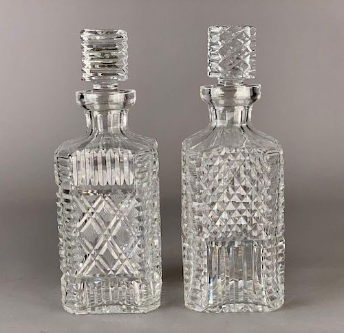 Two Waterford Crystal Decanters