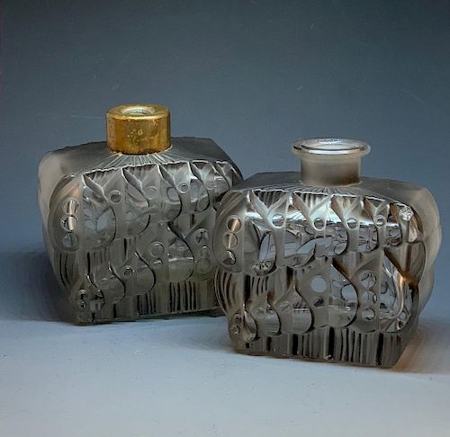 Pair of French Art Deco Perfume Bottles