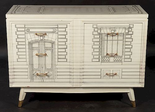 FORNASETTI STYLE 6 DRAWER COMMODE 1960