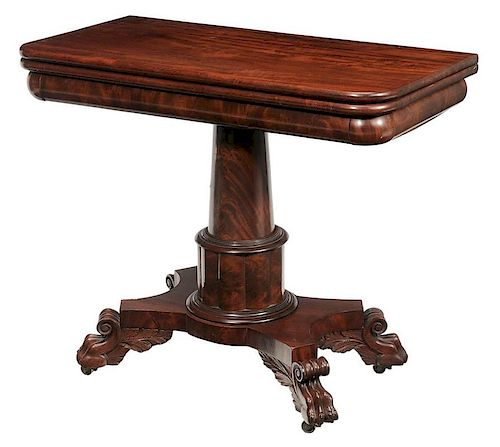 Classical Carved and Figured Mahogany