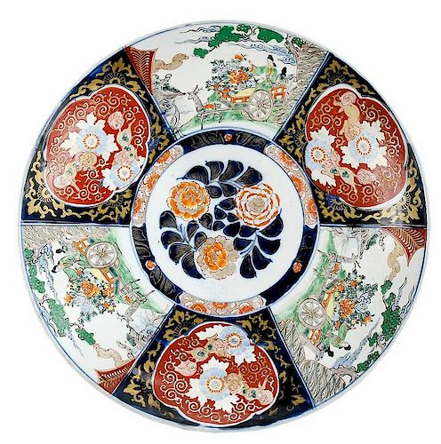 Chinese Imari Porcelain Charger