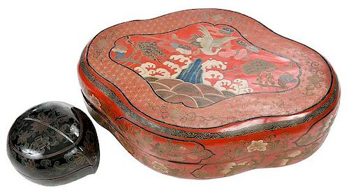 Two Chinese Lacquer Boxes