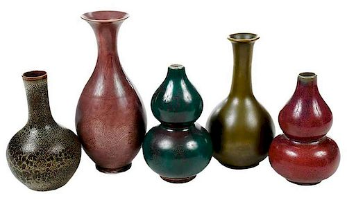 Five Chinese Vases