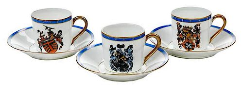 Group of Demitasse Cups and Saucers