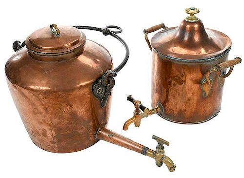 Two Copper Water Dispensers