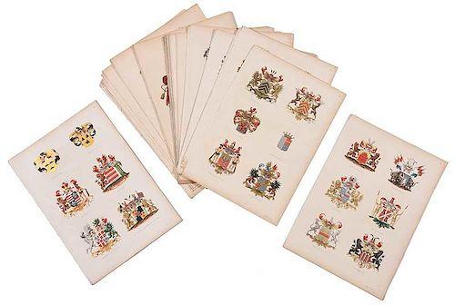 Group of Heraldic Crest Prints