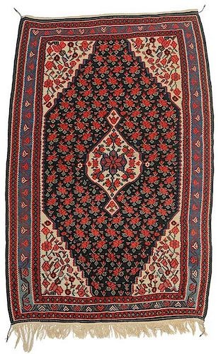 Kilim with Rose Field