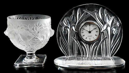 Lalique Elisabeth Vase, Iris Pendule Clock