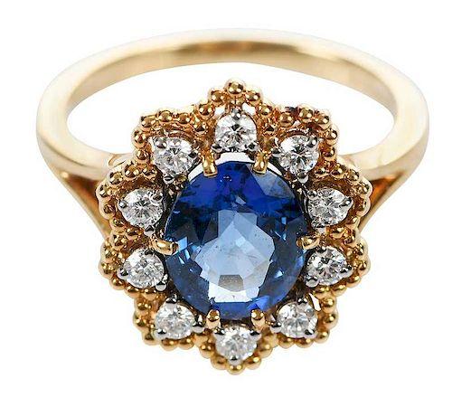 Jabel 18kt. Sapphire & Diamond Ring