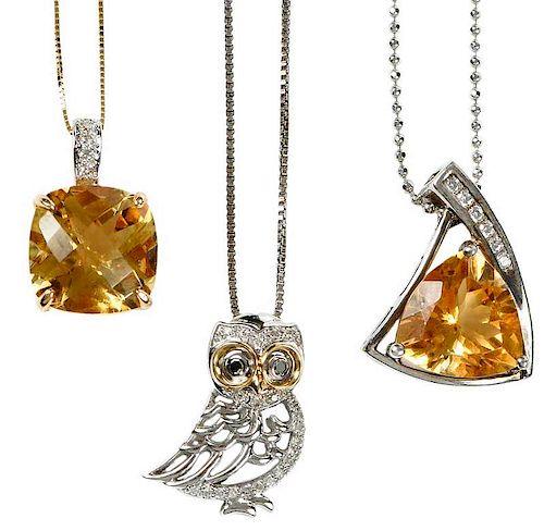 Three Gemstone Necklaces