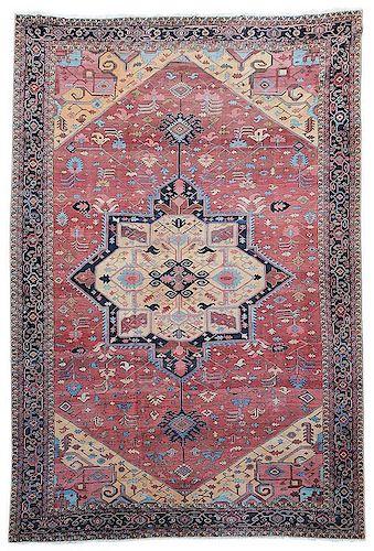Palace Sized Serapi Carpet