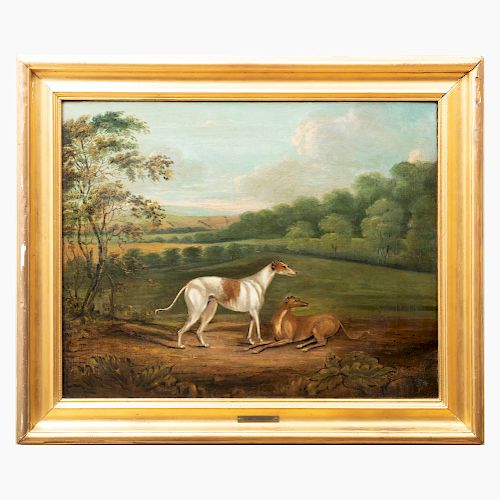 Attributed to  Dean Wolstenholme (1757-1837):  Two Greyhounds