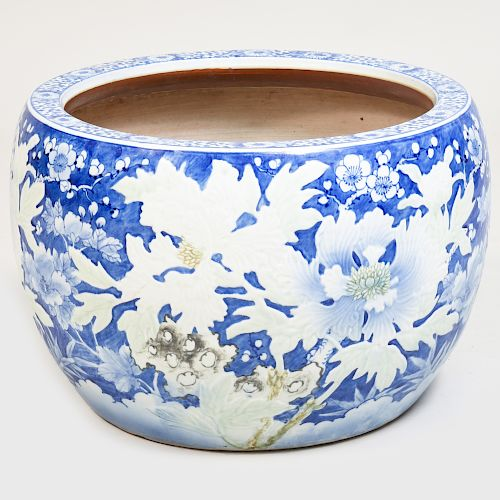 Japanese Blue and White Porcelain Jardiniére
