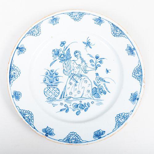 English Delftware Plate
